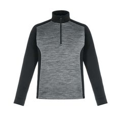 Conquer Men's & Women's Performance Half Zip - embroidered with your logo! Comfortable 100% polyester mélange interlock 1/4 zip, 6.9 oz. with moisture wicking performance.