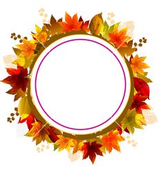 Autumn leaves frame vector - by mvArts on VectorStock®