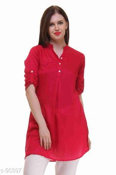 Checkout this latest Tops & Tunics Product Name: *Beautiful Rayon Tunic* Sizes: S, M, L Country of Origin: India Easy Returns Available In Case Of Any Issue   Catalog Rating: ★4 (226)  Catalog Name: Women's Crepe Tops & Tunics CatalogID_9040 C79-SC1020 Code: 073-90397-519