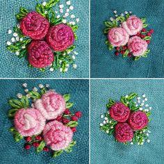 Flores bordadas