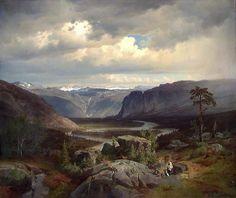 Johan Fredrik Eckersberg –Fra Valle i Setesdal, 1852.