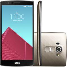 Smartphone LG G4 Dual Chip Desbloqueado Android 5.1 Lollipop Tela 5,5'' 32GB Wi-Fi Câmera de 16MP - Dourado