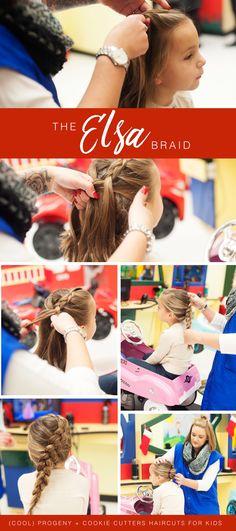 holiday hair ideas for kids! Medium Hair Braids, Medium Hair Styles, Princess Hairstyles, Little Girl Hairstyles, Elsa Braid, Girls Updo, Baby Girl Hair, Holiday Hairstyles, Braids For Kids