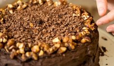 Adventures of a Tiny Kitchen Chocolate Hazelnut, Chocolate Cake, Crunch Cake, Greek Desserts, Chocolate Buttercream Frosting, Food And Drink, Treats, Sweet, Recipes