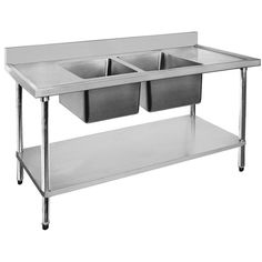 FED 1200-6-DSBC DOUBLE SINK BENCH CENTRE