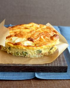 Egg Suppers Ham-and-Potato Bake: This dish is basically a crustless quiche.Ham-and-Potato Bake: This dish is basically a crustless quiche. Quiche Recipes, Broccoli Recipes, Brunch Recipes, Breakfast Recipes, Broccoli Bake, Broccoli Cheddar, Broccoli Quiche, Ham Recipes, Sandwich Recipes