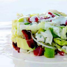 My Cobb Salad: Iceberg, Tomato, Avocado, Bacon, and Blue Cheese