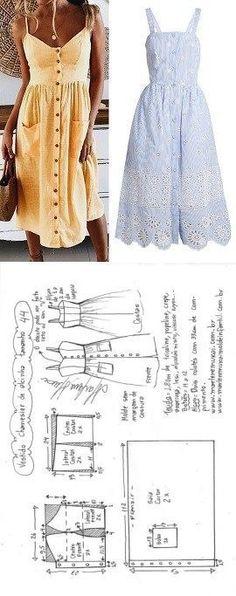 Vestido de alcinha chemisier | DIY - molde, corte e costura - Marlene Mukai #diydress