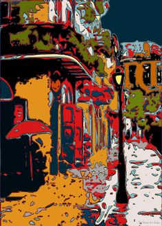 Abstract Pirates Alley New Orleans Art Print