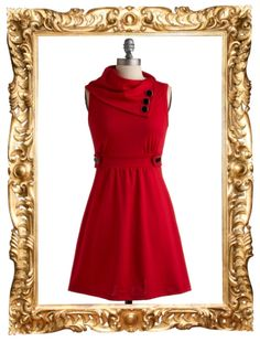 Modcloth's 'Coach Tour Dress in Rouge' is part of today's fantastic five! For today only it's $41.99!