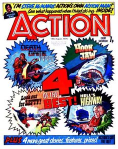 Cover for Action (IPC, 1976 series) August 1976 Abc Warriors, Judge Dredd, Star Lord, Great Stories, Comic Art, Growing Up, Childhood, Geek Stuff, British