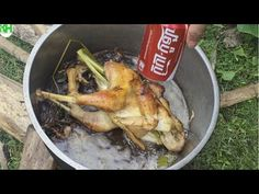 Roasted Chicken With Coca Cola and Banana Flower | How To Roasted Chicken in Cambodia  More Info:  K...