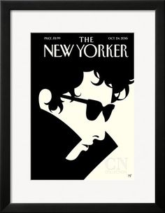 Bob Dylan – The New Yorker Cover – October 24, 2016 Poster Print by Malika Favre at the Condé Nast Collection
