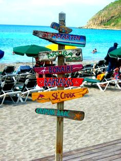 I want a sign like this with my favorite places in my yard or travel room
