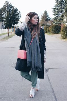 Layers, Adidas Sneakers, Acne scarf and Modalu Bag