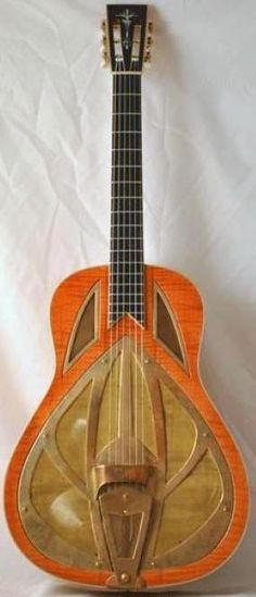 Tony Nobles Resonator Guitar =standing in for ==Lardys Chordophone of the day - 2 years ago --- https://www.pinterest.com/lardyfatboy/