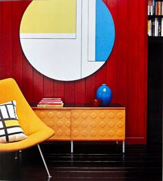Amazing colours for a mid century modern interior...click the pic to see more!