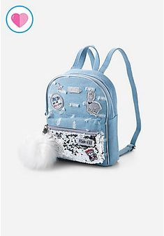 Justice is your one-stop-shop for on-trend styles in tween girls clothing & accessories. Shop our Revolution Denim Mini Backpack. Justice Backpacks, Justice Bags, Cute Backpacks, Girl Backpacks, Handbags On Sale, Luxury Handbags, Fashion Bags, Fashion Backpack, Tot Bag