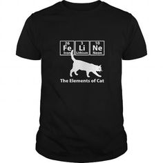 I Love Funny Cat Chemistry Element Tshirt FeLiNe Feline T-Shirts