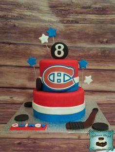 Montreal canadien hockey cake www.facebook.com/gateauxmagik Hockey Birthday Cake, Hockey Birthday Parties, Hockey Party, Birthday Cakes, Fondant Cakes, Cupcake Cakes, Hockey Cakes, Love Cupcakes, Just Cakes