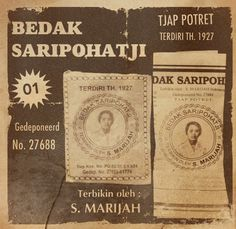 Bedak Saripohatji. An old Indonesian traditional anti-acne masker.