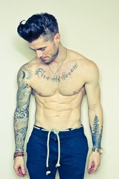 guys with tattoos <3 |Pinned from PinTo for iPad| hot men boys cute sexy smexy in love with tatts for now idk style fashion hair