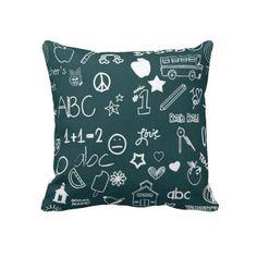 Chalkboard Patterns Pillows