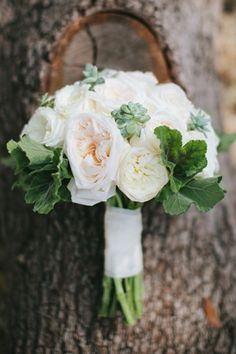 Soft blush and ivory bridal bouquet with succulent accents and greenery floral design by Kari Shelton  Camp Lucy Ian's Chapel | Jen Dillinger Photography | Southern Weddings Blog http://www.theflowergirltx.com/