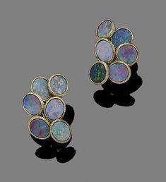 Bonhams : Jewelry Lightning Ridge, Travel Jewelry, Burmese, Druzy Ring, Opal, Auction, Gemstones, Rings, Gems