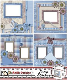 4 digital  Scrap in a Snap pages for the busy scrapbooker.