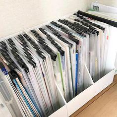 紙類、ようやく整理完了!  #新居 #マイホーム #myhome #書類整理 #収納 #整理 #テプラ #ダイソー #ダブルクリップ #クリアファイル #無印良品 #ファイルボックス #良品週間 #雑貨 #生活雑貨
