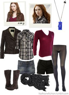 Fashion inspired by Amy Pond from Dr. Who.