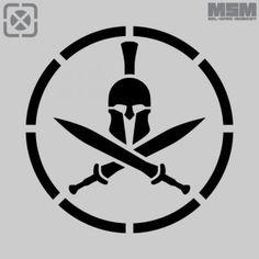 Spartan Helmet Stencil