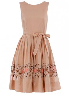 Pink embroidered dress | dorothy perkins