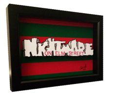 A Nightmare on Elm Street Movie Poster 3D Pop Art by PopsicArt, $25.00