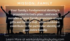 Do you have a plan for your family in What if I told you, you can grow closer as a family, feel more confident in the mission God has for your particular family, and have fun figuring it all out? That is exactly the purpose of MISSION:FAMILY. Family Mission Statements, Relationship Building, Instructional Design, Gods Plan, New Books, Confident, Closer, Catholic, Identity