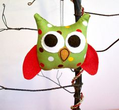 owl ornament. This is adorable.