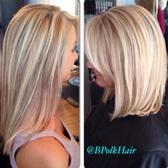Before & after by Brandy Polk - Beaux Art Salon, Charlotte NC - Before / After Hair Photos – Long to Short Hair Transformations Charlotte Nc, Pretty Hairstyles, Bob Hairstyles, Medium Hair Styles, Short Hair Styles, Before After Hair, Langer Bob, Rides Front, Corte Y Color