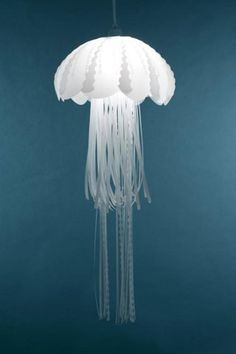 jellyfish lamp - I'm trying to make a jellyfish paper sculpture myself