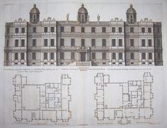 Longleat, plans & elevation, original.