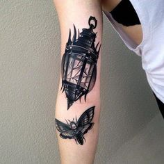 broken lantern moth tattoo