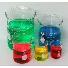 Graduated Beaker Set 50 100 250 600 and 1000ml glass