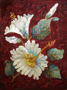 Honey Bee Hive rug hooking pattern from our PRIMCO line. Hibiscus, Designed by Jane McGown Flynn & Norma Batastini Rug Hooking Designs, Rug Hooking Patterns, Honey Bee Hives, Rug Texture, Hand Hooked Rugs, Textiles, Braided Rugs, Penny Rugs, Handmade Headbands