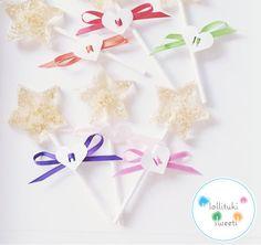 1/2 dozen of Gold stars lollipops birthday by lollitukisweets