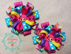 TWO Lalaloopsy  Loopy Flower  Boutique hair by ElliesHappinessBows, $10.00