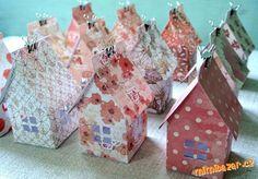 Lucerničky domečky z papíru
