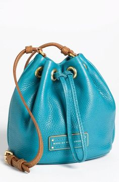 MARC BY MARC JACOBS 'Too Hot to Handle - Mini' Leather Drawstring Crossbody Bag available at #Nordstrom