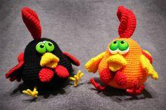 Сrochet, rooster, free amigurumi pattern, chicken, Easter, #haken, gratis patroon (Engels), haan, kip, Pasen, knuffel, speelgoed, #haakpatroon