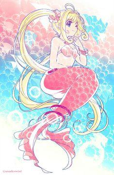 Mediaholic — Old doodle from Chica Anime Manga, Anime Chibi, Manga Girl, Mermaid Melody, Mermaid Princess, Anime Mermaid, Mermaid Art, Kawaii Art, Kawaii Anime
