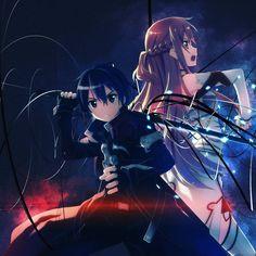 Asuna and Kirito from Sword Art Online!